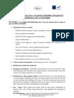 Gender Violence Activities