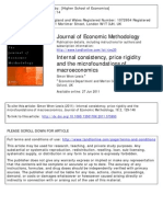 Internal consistency, price rigidity and the microfoundations of macroeconomics