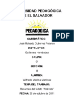 UNIVERSIDAD PEDAGÓGICA DE EL SALVADOR