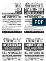 General Strike Flyer Bilingual