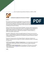 Programas de Legalización para Sistemas Operativos