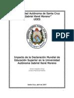 5. Impacto de la Declaración Mundial de E.S. en la UAGRM (Imprimir)