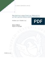 U.S. Copyright Office Priorities 2011