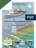 Especificações da OHI para levantamentos Hidrográficos