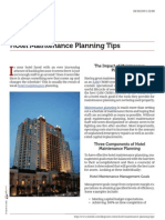 Good Hotel Maintenance Planning Tips