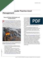 Earthquakes Can Teach Asset Management