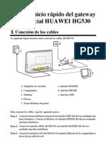 HUAWEI HG530 Home Gateway Quick Start-Spanish