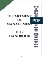 Monash Hdr Handbook 2010