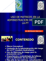 Uso de Matrices en La Admin is Trac Ion de Riesgos La-ft