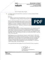 Sept. 16 letter from NNSA to Los Alamos National Laboratory regarding nuclear safety issues