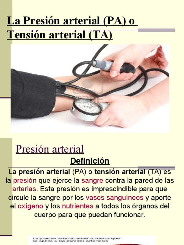 Presión arterial fundamento - Hipertensión - Arteria