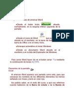 Distintas Formas de Arrancar Word2007