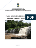 Plano de Manejo Do Monumento Natural Cascata Santa Rita