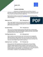 YD07 Premium Activities