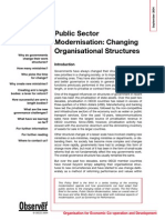 Public Sector - Change ion Structure