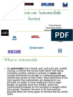 Presentation on Automobile Sector