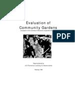Evaluation of Community Gardens
