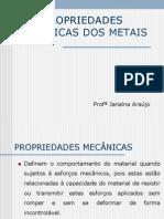 METAIS - PROPRIEDADES MECÂNICAS