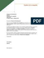 Carta Para Comunicaciones