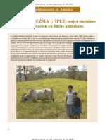 Mujer sinónimo de innovacion en ganadería