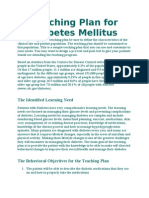 Teaching Plan for Diabetes Mellitus