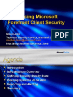 Introducing Microsoft Forefront Client Security