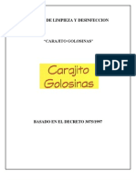 Manual de Limpieza y Desinfeccion Carajito Para Impresion