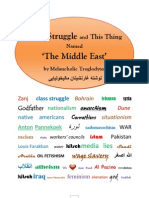 "Class Struggle and This Thing Named ""The Middle East"" by Melancholic Troglodytes نوشتۀ غارنشینان مالیخولیایی"