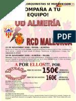 Viatge per al partit Almeria - Mallorca