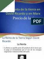 Teoría de la Renta en Rircardo y Marx