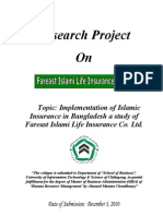 Islamic Insurance in Bangladesh a Study of Fareast Islami Life