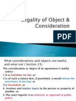 Legality of Object & Consideration
