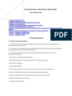 NORMATIV de Dimension Are a Structurilor Rutiere Rigide NP 081-2002