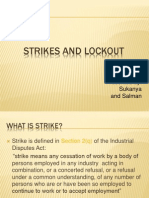 Strikes and Lockout
