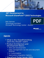 German Development for Share Point Technologies 2005 09