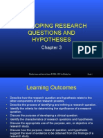 Reaserch Question vs Hypothsis