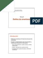 Metododogía de la enseñanza de la AF (Tema 5)