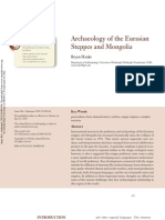Archaeology of the Eurasian Steppes and Mongolia