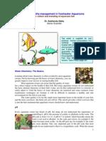 Management of Water Quality in Aquarium