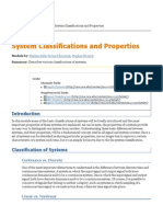 System Classifications and Properties