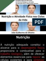 Nutrição e Atividade Física nos Ciclos da Vida