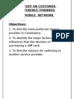 A Study on Customer Prefered Mobile 123456 Allllllll