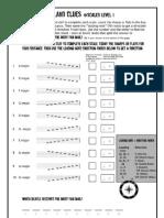 24 Scales Music Worksheet