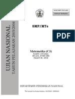 SOAL SMP Matematika 0304 P1