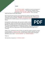 Sample Letter Principal