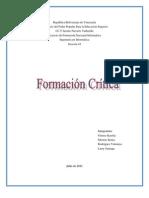 Formacion crítica