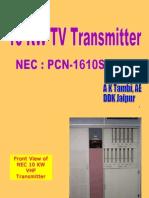 10 KW TV Transmitter