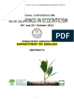 New Bearings in Ecocriticism Conference Abstracts