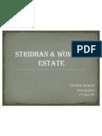 STRIDHAN & WOMEN'S ESTATE