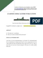 Academic Zodiac & RTRRT - Publications